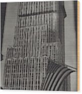 The Empire State Building In New York City Wood Print
