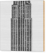 The Empire State Building Wood Print by Luciano Mortula