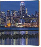 The Empire State Building Pastels Esb Wood Print