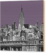 The Empire State Building Plum Wood Print