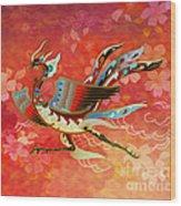 The Empress - Flight Of Phoenix - Red Version Wood Print by Bedros Awak