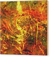 The End - 12/21/2012 - Horrific Hallucination Wood Print by J Larry Walker