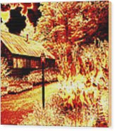 When The World Burns  Wood Print