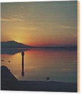 The End Of Another Day Without You Wood Print by Laurie Search