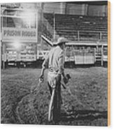 The End Of The Rodeo Wood Print