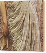The End Of The Story Wood Print by Albert Joseph Moore