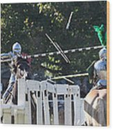 The End To The Jousting Contest  Wood Print