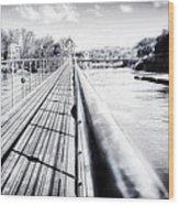 The Endless Bridge Wood Print