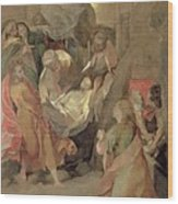 The Entombment Of Christ Wood Print by Barocci