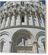 The Entrance To The Baptistery In Pisa  Wood Print