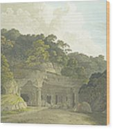 The Entrance To The Elephanta Cave Wood Print