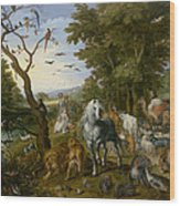 The Entry Of The Animals Into Noahs Ark Wood Print