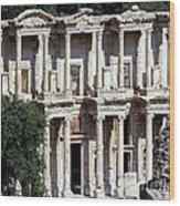 The Ephesus Library In Turkey Wood Print