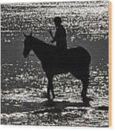 The Equestrian-silhouette Wood Print