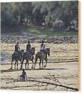 The Equestrians   Wood Print