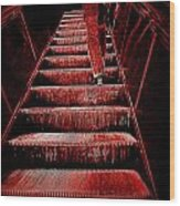 The Escalator Wood Print