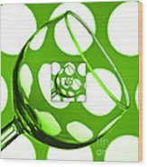 The Eternal Glass Green Wood Print