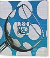 The Eternal Glass Light Blue Wood Print
