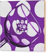 The Eternal Glass Purple Wood Print