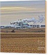 The Ethanol Plant Wood Print