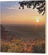 The Evening Star Wood Print by Debra and Dave Vanderlaan