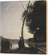 The Evening Star Wood Print
