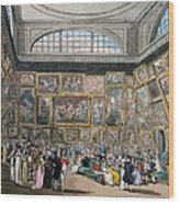 The Exhibition Room At Somerset House Wood Print