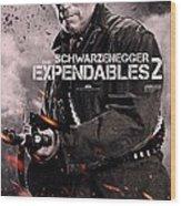 The Expendables 2 Schwarzenegger Wood Print