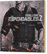 The Expendables 2 Stallone Wood Print