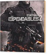 The Expendables 2 Statham Wood Print