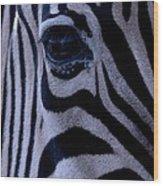 The Eye Of The Zebra Wood Print
