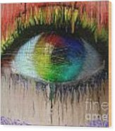 The Eyes 15 Wood Print