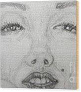 the eyes of Marilyn Wood Print
