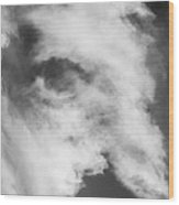 The Face In The Clouds Wood Print