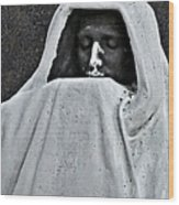 The Face Of Death - Graceland Cemetery Chicago Wood Print