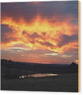 The Sunrise Face In The Clouds Wood Print