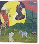 The Faces Of Africa Wood Print