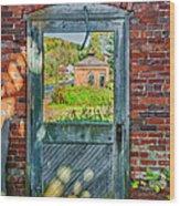 The Factory Door Wood Print