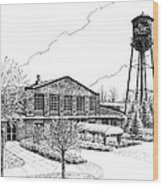The Factory In Franklin Tennessee Wood Print