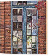 The Factory Window Wood Print
