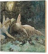 The Fairies From William Shakespeare Scene Wood Print