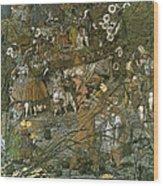The Fairy Feller Master Stroke Wood Print by Richard Dadd