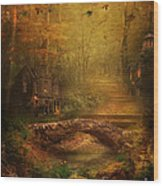 The Fairy Forest In The Fall Wood Print