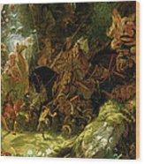 The Fairy Raid Wood Print