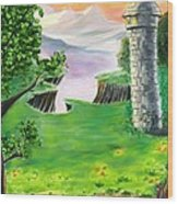 The Fairy Tale Tower Wood Print