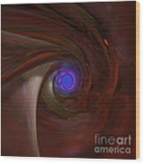 The Falcon's Eye   Ultra Violet Vision Wood Print by Peter R Nicholls