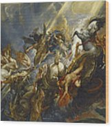 The Fall Of Phaeton Wood Print by  Peter Paul Rubens