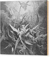 The Fall Of The Rebel Angels Wood Print