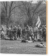 The Fallen Civil War Wood Print