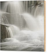 The Falls 2 Wood Print by Cindy Rubin